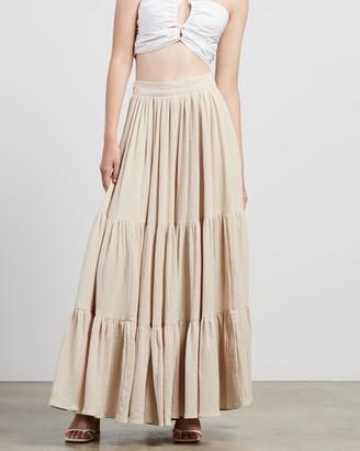Bec & Bridge Bec + Bridge - Women's Neutrals Maxi skirts - Marlowe Maxi Skirt - Size 10 at The Iconic