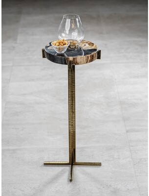 Loon Peak Bentlee Pedestal End Table