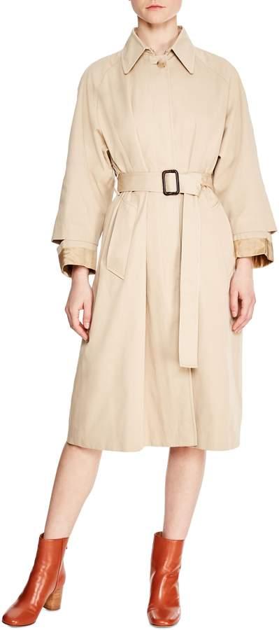 Sandro Long Trench Coat