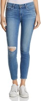 Paige Verdugo Skinny Ankle Jeans in Brantley Destructed