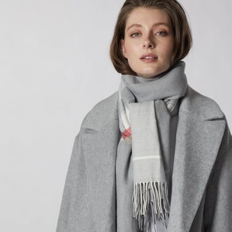 Love & Lore Love And Lore Super Soft Scarf Offset Plaid Heather Grey
