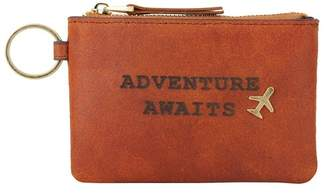 """Most Wanted Design by Carlos Souza \""""Adventure Awaits\"""" Leather Coin Wallet"""