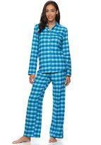 Croft & Barrow Women's Pajamas: Flannel Notch Collar PJ Set