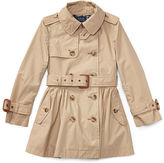 Ralph Lauren 2-6X Cotton Swing Trench Coat