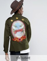 Reclaimed Vintage Revived X Romeo & Juliet Military Jacket With Back Details