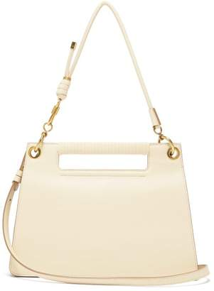 Givenchy The Whip Medium Cut-out Leather Cross-body Bag - Womens - Ivory