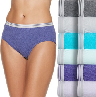 Fruit of the Loom Women's 12-pack Cotton Low-Rise Hipster Panties
