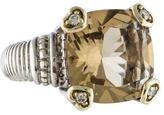 Judith Ripka JR Two Smoky Quartz & Diamond Ring