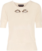 Rochas Crystal-embellished knitted top