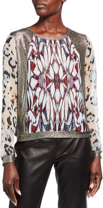 Loyd/Ford Multicolor-Print Chiffon Sweater