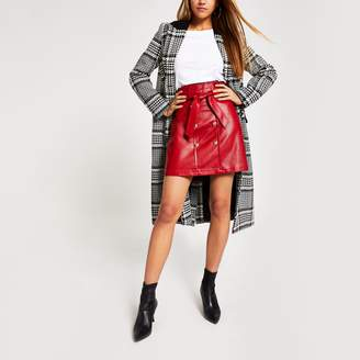 River Island Womens Red faux leather paperbag mini skirt