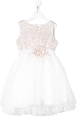 Mimilù Floral Embellished Tulle Skirt Dress