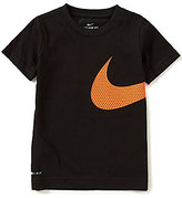 Nike Little Boys 2T-7 Oversized-Swoosh Short-Sleeve Tee