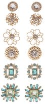Charlotte Russe Embellished Statement Earrings - 6 Pack