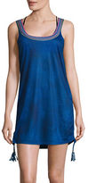 Design Lab Lord & Taylor St Tropez Sleeveless Tassel Cover-Up Dress