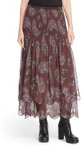 See by Chloe Women's Floral Paisley Print Tiered Skirt