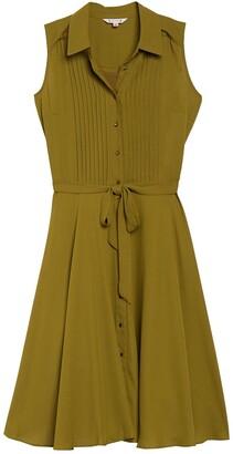 Nanette Lepore Sleeveless Pintuck Pleat Midi Dress