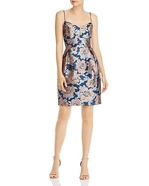 Eliza J Floral Brocade Cocktail Dress