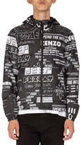 Kenzo Reversible Logo-Print Tech Jacket, Black