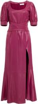 Prabal Gurung Geena Ruched Sleeve Wrap Front Dress