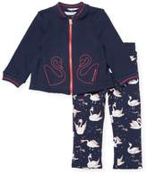 Little Marc Jacobs Zip-Front Top and Printed Leggings Set