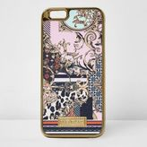 River Island Womens Pink scarf print iPhone 6 case