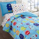 Olive Kids Monsters 7-Piece Multicolor Full Comforter Set