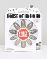 Elegant Touch House of Holland x Stiletto False Nails - Golden Baubles