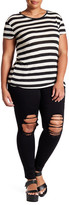 One 5 One Distressed Skinny Jean (Plus Size)