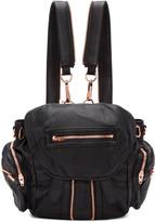 Alexander Wang Black & Rose Gold Mini Marti Backpack