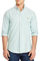 Polo Ralph Lauren Big & Tall Striped Stretch Oxford Long-Sleeve Woven Shirt