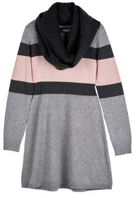 Ally B Girl's Striped Sweater Dress