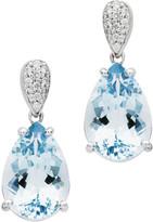 Rochester Jan Logan 18ct Aquamarine Diamond Earrings