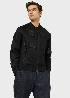 Emporio Armani Mesh Bomber Jacket With Patch