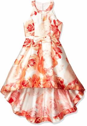 Speechless Girls' Sleeveless High-Low Taffeta Party Dress