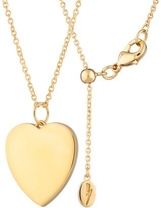 Gold Turquoise Heart Necklace with Slider Clasp