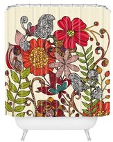 """DENY Designs Valentina Ramos Harmonia in Red Shower Curtain by 71""""x74"""")"""