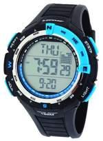 Dunlop Diviner Men's Quartz Watch with Black Dial Digital Display and Black Plastic Strap DUN-226-G03