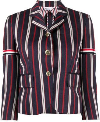 Thom Browne 3/4 Sleeves Striped Blazer