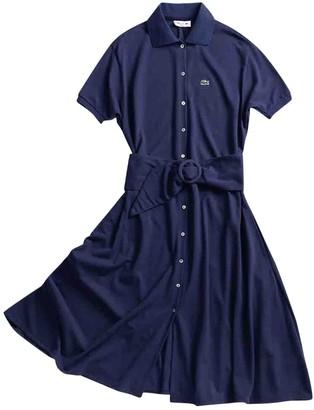 Lacoste Blue Cotton Dress for Women