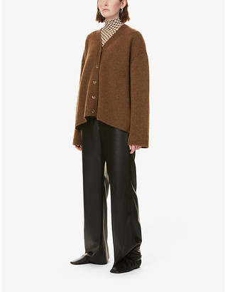 Nanushka Eder V-neck knitted cardigan