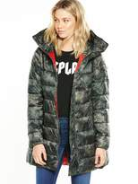 Replay Floral Lace Camo Padded Jacket
