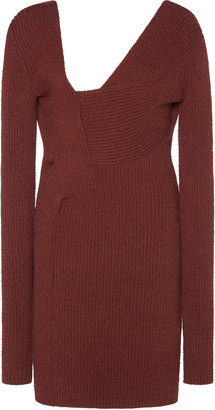 Bottega Veneta Ribbed-Knit Mini Dress