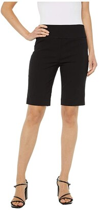 Elliott Lauren Control Stretch Pull-On Shorts (Black) Women's Shorts