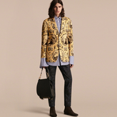 Burberry Wallpaper Print Cotton Silk Tailored Jacket