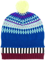 Burberry Fair Isle pompom beanie hat