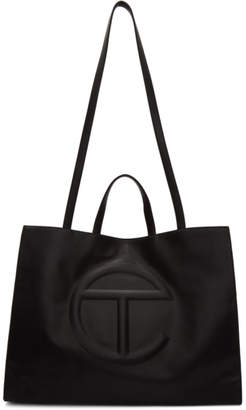 Telfar Black Large Shopping Tote