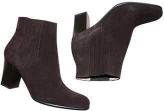 Salvatore Ferragamo \N Brown Suede Ankle boots