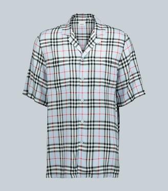 Burberry Vintage check camp-collar shirt