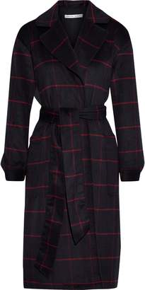 Rebecca Minkoff Cecilia Checked Brushed Wool-blend Coat